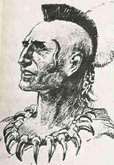 """Pontiac: Ottawa: nel 1763 organizzò la rivolta contro gli inglesi che dominavano le regioni del nord-est. Pontiac riuscì a creare un'alleanza tra tribù i cui territori, tra loro, distavano migliaia di chilometri. E' considerato uno dei più grandi capi indiani in assoluto. Nella sua epoca è ambientato il romanzo """"L'ultimo dei mohicani"""" di James Ferimore Cooper e dalle sue gesta prende ispirazione."""
