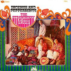 """The Strawberry Alarm Clock was a psychedelic rock band from Los Angeles best known for their 1967 hit """"Incense and Peppermints"""". The group took its name as an homage to the Beatles' psychedelic hit """"Strawberry Fields Forever"""". 60s Music, Hippie Music, My Favorite Music, Favorite Things, Pop, Summer Of Love, As You Like, Rock Music, Cover Art"""
