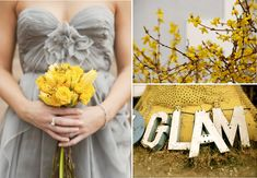 Wedding grey and yellow