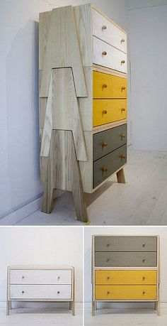 """TREE Stacking Cabinet Now that's just cool ! Japanese stackable """"tree"""" drawers from Chigo by Landscape Products Co. Japanese stackable """"tree"""" drawers from Chigo by Landscape Products Co. Plywood Furniture, Deco Furniture, Ikea Furniture, Home Decor Furniture, Furniture Projects, Pallet Furniture, Furniture Makeover, Furniture Decor, Bedroom Furniture"""