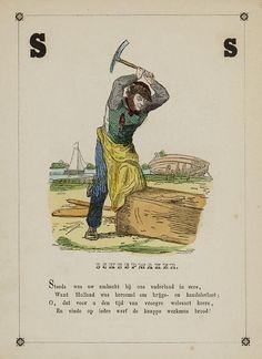 Scheepmaker. Uit: Hoe men zijn brood verdient, 1855. Aanvraagnummer: 040915980
