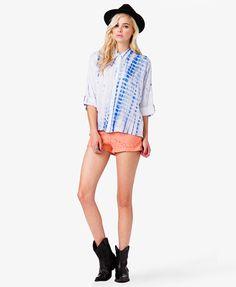 Tie-Dye Dolman Shirt | FOREVER 21 - 2042000777