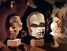 """1940 - """"Les trois âges"""". Il montre une projection de son fantasme que l'avait toujours été stimulé par son environnement. Les faces représentent les épisodes de sa vie: la vieillesse , de l'adolescence et de l'enfance."""