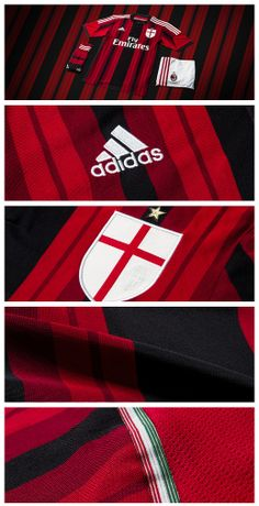 Details on the new adidas AC Milan 2014/2015 Home Jersey http://www.soccer.com/IWCatProductPage.process?Merchant_Id=1&query=ac+milan&N=0&Product_Id=21369257