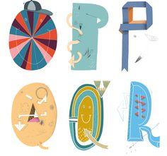 Mike Okay & Otto Baum - Comic Suns alphabet (O P Q R)