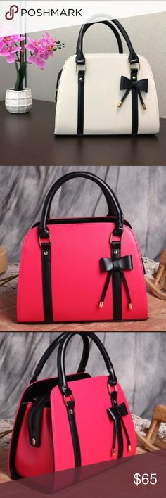 9c1cbe4736 Bow Shoulder Purse Choose from 3 colors! Turquoise, hot pink and cream.  Material