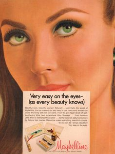 Maybelline 'Very Easy on the Eyes' Makeup Ad, 1968