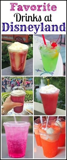 Favorite Drinks at Disneyland Resort.  Perfect for warm Disneyland days!