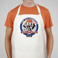 All American Grill Guy Personalized Apron #AllAmericanGrillApron