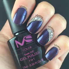 Navy-Blue-and-Crystals-Gel-Nail-Design-With-MelodySusie