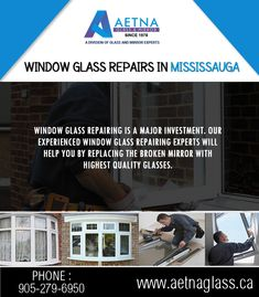 If you looking for window glass repair in Mississauga, contact Aetna Glass and Mirrors. Window Glass Repair, Broken Mirror, Windows, Website, Glasses, Guys, Eyewear, Window, Eyeglasses