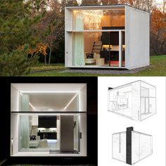 Freja Heather's media content and analytics Prefab Cabins, Prefabricated Houses, Prefab Homes, Tyni House, Tiny House Cabin, Compact House, Micro House, Modern Tiny House, Tiny House Design