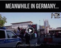 """Migranten zeigen den Hitlergruß, skandieren """"Adolf Hitler"""" und """"Allahu Akbar"""""""