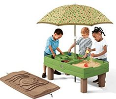 Naturally Playful Sand & Water Activity Center by is a sand table and a water table in one. View and shop this sand & water table now. Best Water Table, Kids Water Table, Sand And Water Table, Water Table With Umbrella, Table Umbrella, Umbrella Cover, Water Toys, Water Play, Sand Toys