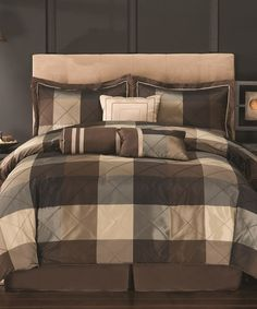 Another great find on #zulily! Elliot Eight-Piece Comforter Set #zulilyfinds