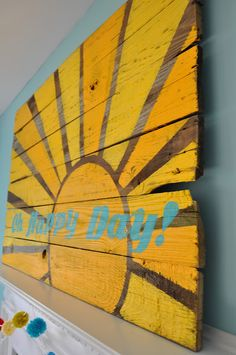 Oh Happy Day! reclaimed wood art