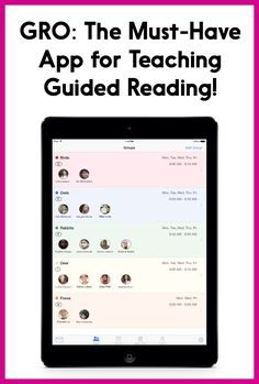 I love this guided reading app - it was created by a teacher!! GRO helps with guided reading organization and anecdotal note-taking. It allows you to re-use lesson plans so you save a TON of time! You can even use it for teaching other small groups, like math. SO worth it!