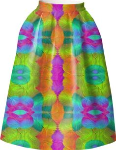 Skirt in colorful  symphoni from Print All Over Me