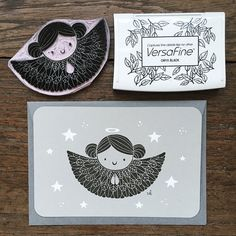 Tarjetas de Ángel Pack de 3 tarjetas de por ViktoriaAstrom en Etsy