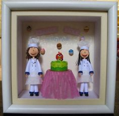 Mini Quilled Chefs with Cake