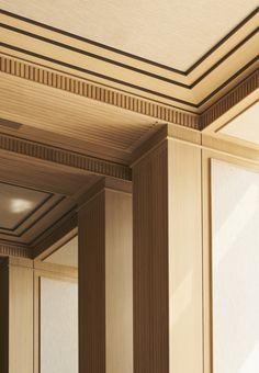 Joseph Dirand, architect based in Paris Molding Ceiling, Ceiling Trim, Ceiling Detail, Ceiling Panels, Ceiling Decor, Ceiling Design, Moulding, Architecture Details, Interior Architecture