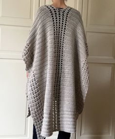 Discover thousands of images about Crochet Poncho PATTERN Crochet Shawl Pattern Boho Crochet Crochet Wrap Pattern, Crochet Poncho Patterns, Crochet Cardigan, Crochet Shawl, Crochet Stitches, Boho Crochet, Crochet Top, Blanket Shawl, Poncho Scarf