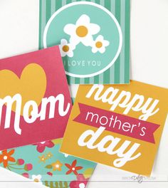 Mother's Day package printables! Love these!! :)