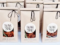 Trail mix or almonds: http://www.stylemepretty.com/2015/06/28/15-delicious-wedding-food-favors/