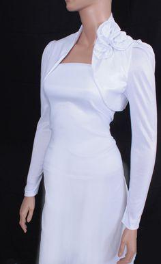 weddingstuffyouwant.unlimitedproductsolutions.com  Bridal diamond white shrug jacket wedding by UpToDateFashion, $44.99