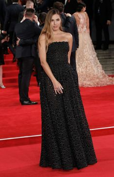 """Amber Le Bon attends the Royal Film Performance of """"Spectre""""at Royal Albert Hall on October 26, 2015 in London, England."""