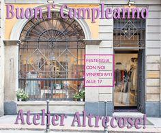Festeggia con noi il 1° Compleanno dell'Atelier Altrecose