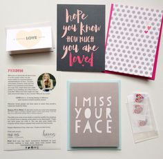 The February card collection by Haven Paperie stationery subscription. Get 3-5 cards delivered to your mailbox each month!