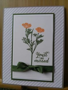 Wild About Flowers; Go Wild DSP stack; Tip Top Taupe; Pumpkin Pie; Mossy Meadow. Karen Jurisch, Stampin Up demonstrator.