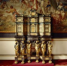 French cabinet 17thc Nostell Priory.