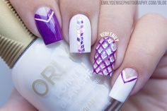Shattered Glass & Diamond Nails