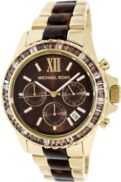 Michael Kors Glitz and Glamour Chronograph Brown Dial Ladies Watch MK5873