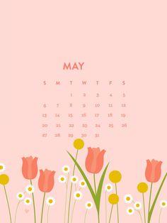 Happy May 2018 iPhone Calendar Wallpapers