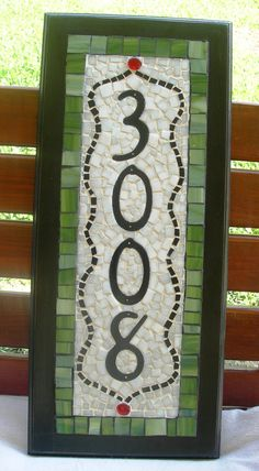 Mosaic House Numbers Custom