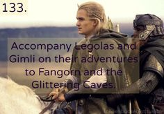 Accompany Legolas and Gimli on their adventures to Fangorn and the Glittering Caves.