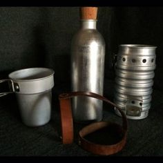 Swiss Army Volcano Stove Set & Leather straps