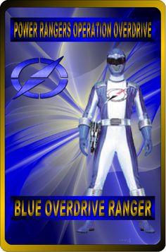 Blue Overdrive Ranger by rangeranime on Power Rangers Fan Art, Power Rangers Ninja Storm, Mighty Morphin Power Rangers, Power Rangers Operation Overdrive, Go Busters, Power Rengers, Cool Cards, User Profile, Captain America