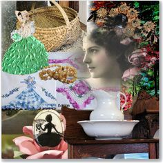 An art collage from February 2017 by pattysporcelainetc featuring art, vintage and country