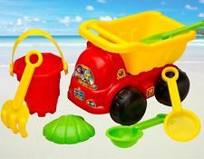 7 Pcs Sand Truck Bucket Spade Beach Seaside Pit Play Kids Seaside Water Toys Set