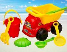 7 Pcs Sand Truck Bucket Spade Beach Seaside Pit Play Kids Seaside Water Toys Set