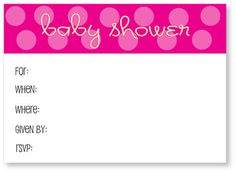 Free Printable Polka Dot Baby Shower Invitations that are creative, unique and cute! #babyshower www.CutestBabySho...