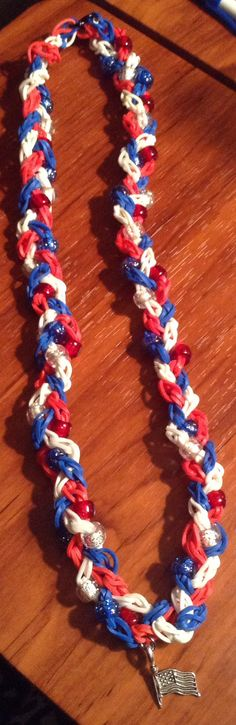 4th of July Rainbow Loom Single Braided by SmallKidJewleryCraft, $7.99