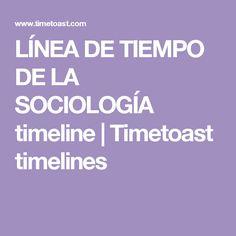 LÍNEA DE TIEMPO DE LA SOCIOLOGÍA timeline | Timetoast timelines