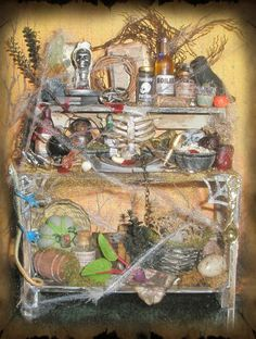 Dollhouse Witch Potion Table by ~grimdeva on deviantART