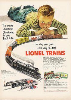 Large Antique 1951 Lionel Trains Magazine Print Ad - Approx 11 x 14