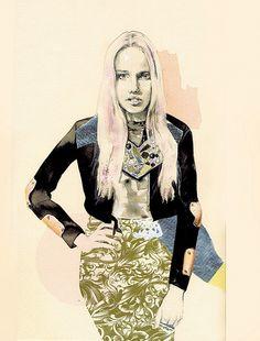 Great illustration. #fashion #illustration #art